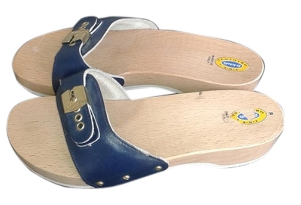 63f34a6817ad Dr. Scholl s Navy Classic Exercise Sandals Size US 8 Regular (M