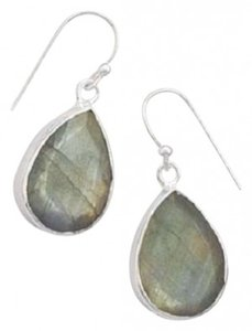Other Faceted Labradorite French Wire Earrings