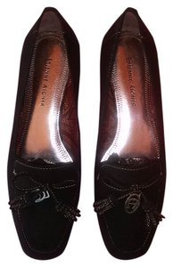 Etienne Aigner Leather Loafers Black Flats