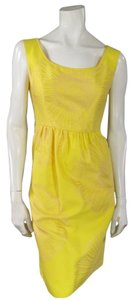 Barbara Tfank Printed Sunflower Summer Spring Dress