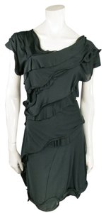 Nina Ricci Pleated Asymmetrical Dress