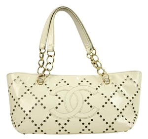Chanel Cc Logo Perforated Shoulder Bag