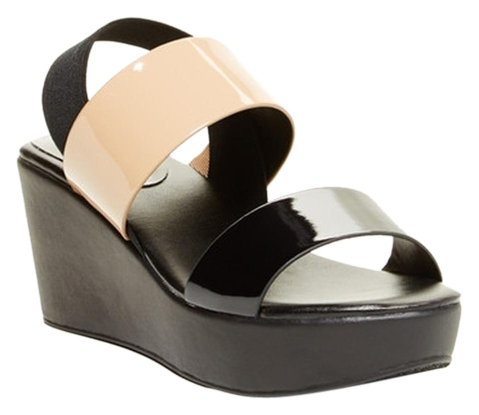 Charles by Black Charles David Black/Nude and Black by Wedges 8a518a