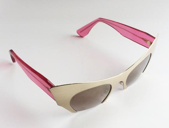 Miu Miu New MIU MIU SMU 53O QE9 1K2 Sunglasses 49 mm Gold & Pink