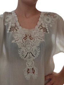 Johnny Was Boho Hippie Lace Tunic
