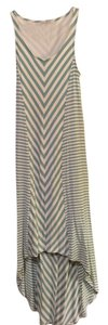 Aqua and white Maxi Dress by Red Haute Maxi Maxi Summer High-low