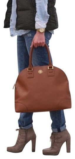Tory Burch Dome Robinson Purse Satchel in brown
