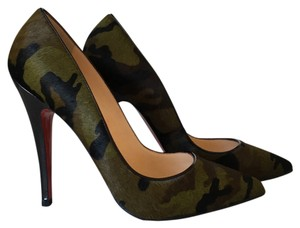 Christian Louboutin Green, brown and black Formal