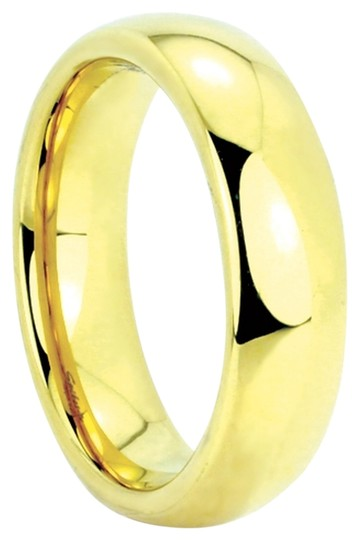 Portofino Stunning IP Gold Tungsten Ring Mirror Polished 4mm (Sizes 5-7), 6mm (Sizes 8-11), 8mm (Sizes 12-14) Made To Order Free Ship
