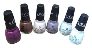 China Glaze 6 brand new China Glaze nail polish
