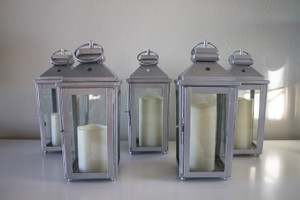 Target Silver Lanterns +free Shipping Reception Decoration