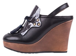 See by Chloé Dark Blue & Black Wedges