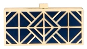 Tory Burch Tory Navy/Gold Clutch