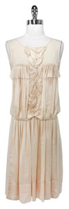 BCBGMAXAZRIA short dress Light Peach Bcbg Runwa Silk on Tradesy
