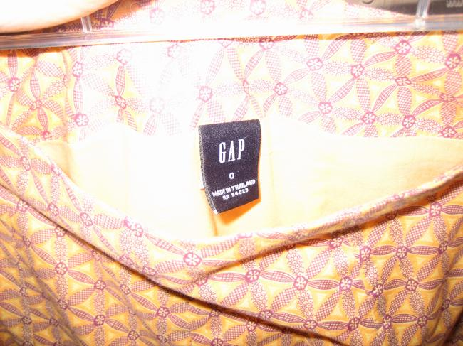 Gap A-line Skirt Orange Multi