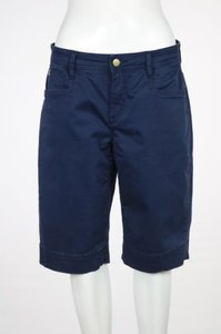 Christopher Blue Womens Bermuda Cotton Casual Walking Shorts Navy