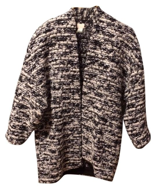 H&M Sweater Tweed Black And White Cardigan