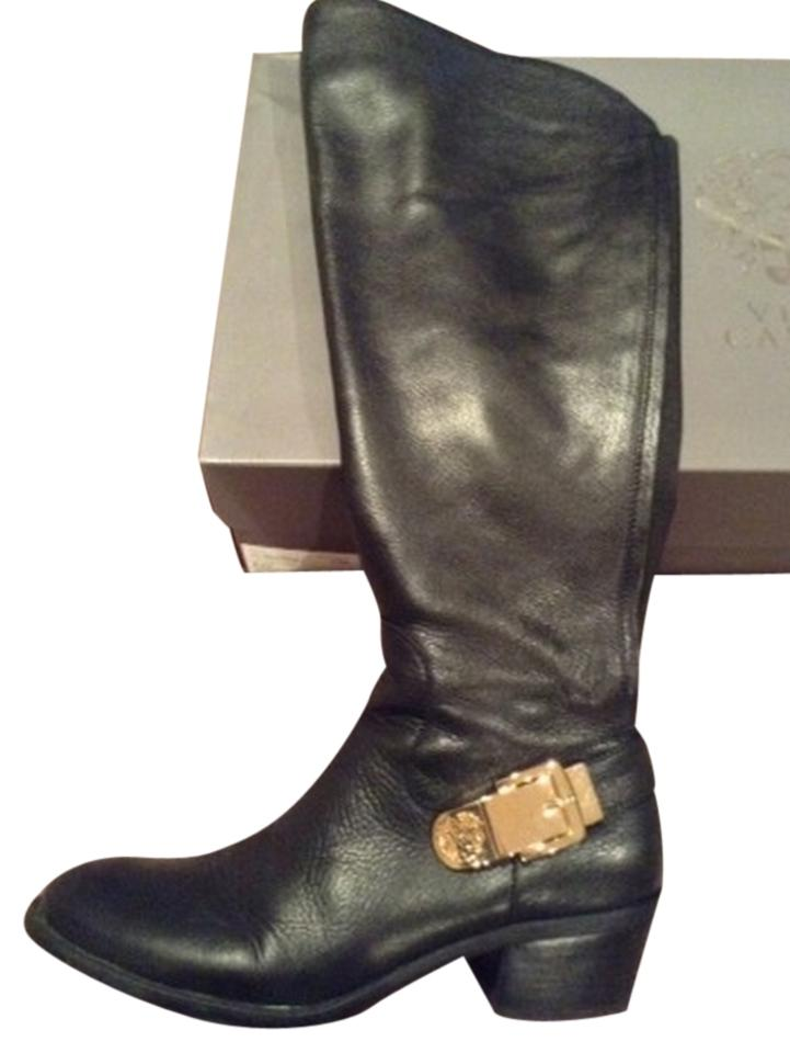 7eb8d205cd0 Vince Camuto Black Leather Wide Calf Bedina Boots Booties. Size  US 10 ...