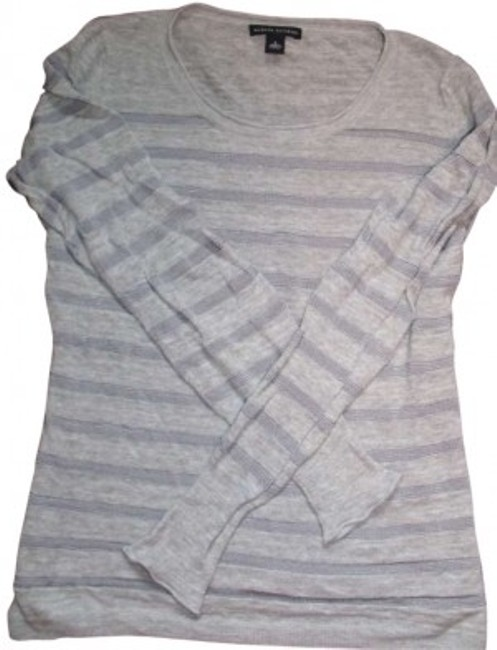 Preload https://img-static.tradesy.com/item/142964/banana-republic-gray-for-spring-fitted-is-sexy-small-sweaterpullover-size-4-s-0-0-650-650.jpg