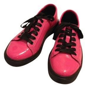 Dr. Martens Patent Leather Hot Pink and Black Boots