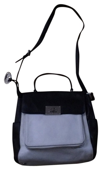 Item - Sloan Black and White Leather Cross Body Bag