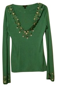 bebe Beaded Embroidered Sweater