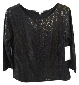 Ella Moss Sequin New Top Black