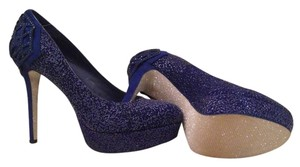 Gianni Bini Platform Suede Shoe Blue Platforms
