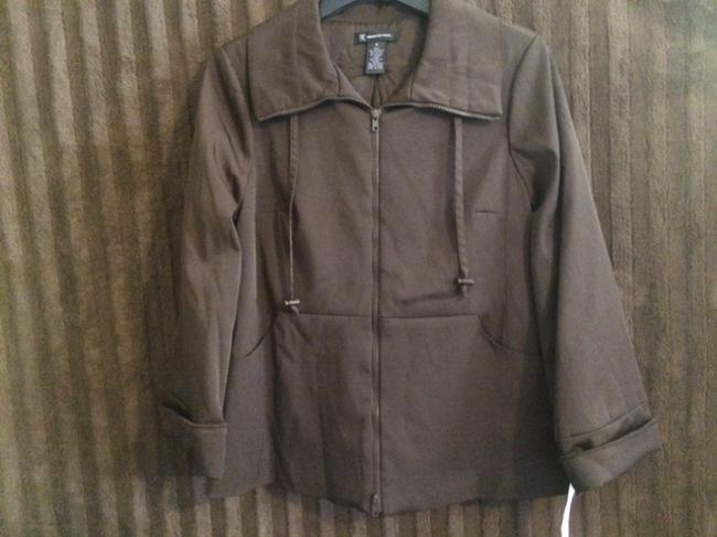 INC International Concepts Coat Coat Brown Jacket