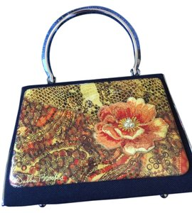 Debbie Brooks MULTI COLORED FLOWER Clutch