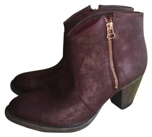 Bucco Nordstrom Size 9 Western Ankle burgundy Boots