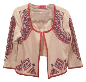 Pookie and Sebastian Cream with multi embroidery Blazer