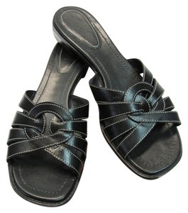 Michelle D Leather Size 7.00 M Black Sandals