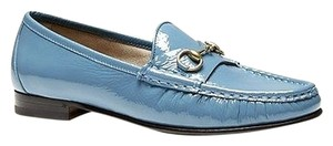 Gucci 1953 Soft Patent Leather Light Blue Flats