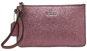 Coach Metallic F64585 889532076994 Glitter Wristlet in Metallic Cherry
