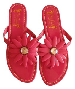 Pink collectible flower in sandals size us 65 regular m b tradesy miss trish of capri for target 6 floral pink sandals mightylinksfo Gallery