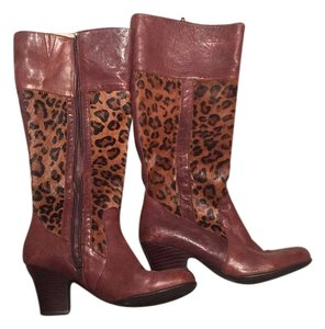 Brn Brown with leopard Boots