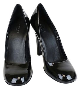 Gucci Patent Leather Pump Wscript Black Pumps
