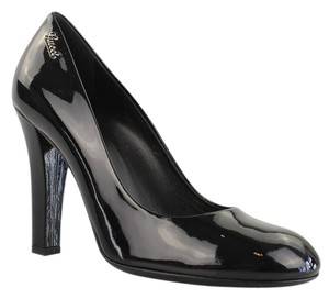 Gucci Patent Leather Wscript Black Pumps