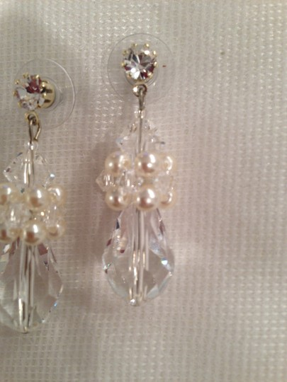 Giavan Large Crystal Teardrops with Swarovski Pearls