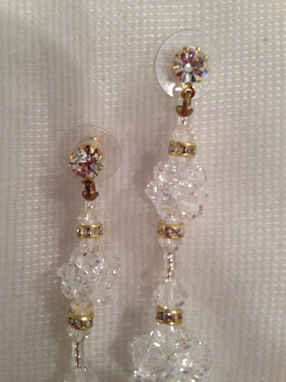 Giavan Three-tier Swarovski Crystal Cluster Earrings