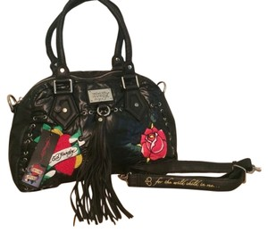 Don Hardy Satchel in Black w/ Colors Shown