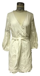 Flavio Castellani short dress White Eyelet Bohemian Wrap Hippie on Tradesy