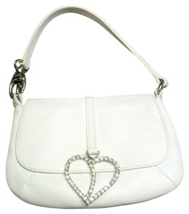 Gianni Chiarini Adorned With Rhineston Heart Wristlet in White