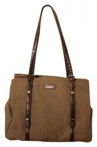 Storksak Brown-grey twill (called glimmer) Diaper Bag