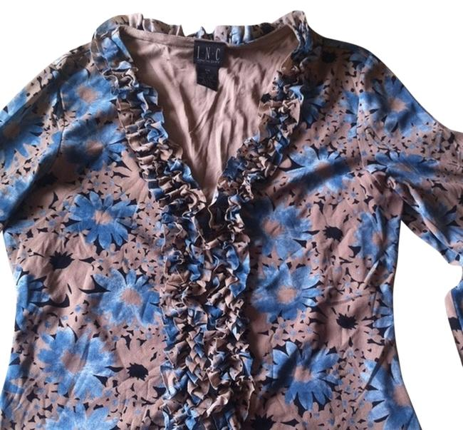 INC International Concepts Ruffle Top Multi