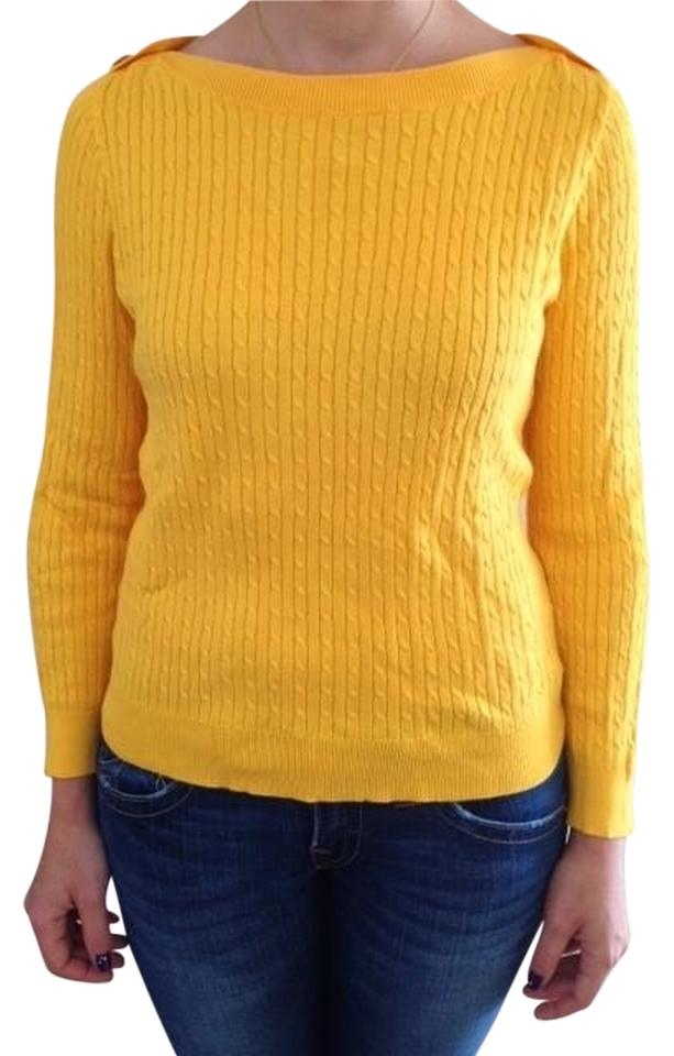 24cd77a648c8d Lauren Ralph Lauren Bright Yellow Sweater - Tradesy