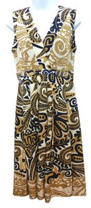 Kay Unger short dress Silk on Tradesy