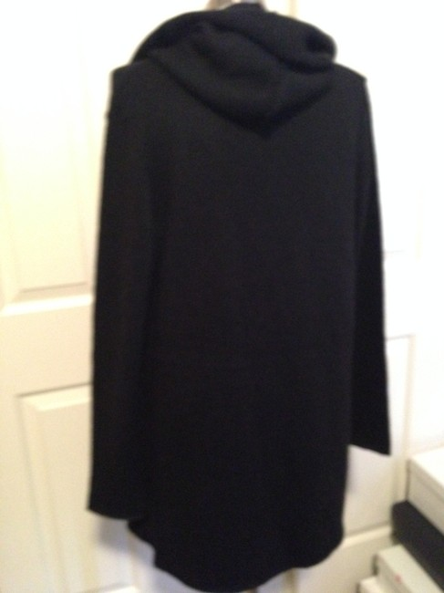 Vince Hooded Wrap Long Sleeve Knit Sweater