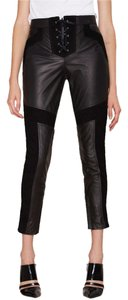 Nasty Gal Leather Moto Cool Suede Laceup Pants